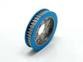 Square Aluminium Front Pulley 40T for One-Way Blue (STA-340W)